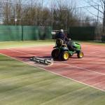 Onderhoud tennisbanen